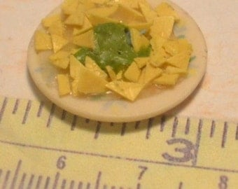 1/12 scale plate of nacho chips with guacamole
