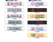 25 Pieces Half Inch Personalized Clothing Labels - Great For Boutique Stores