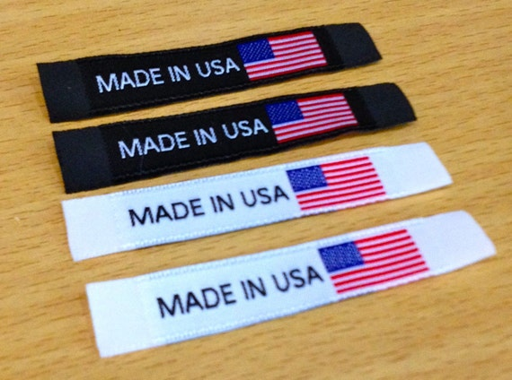 "100 Pieces ""Made in USA"" Clothing Labels - 2""x1/2"" Damask Label (Black or White)"