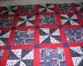 Red, White and Blue Democrat Quilt