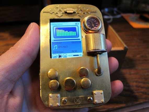 the Pocket Music Library, a Steampunk MP3 Player