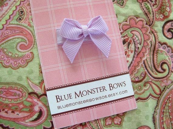 ONE DOLLAR CLIP Lavender Mini Baby Bow Snap Clip No Slip