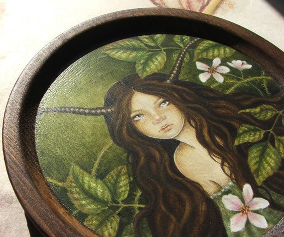 Bramble Faerie - Original Painting on Wood
