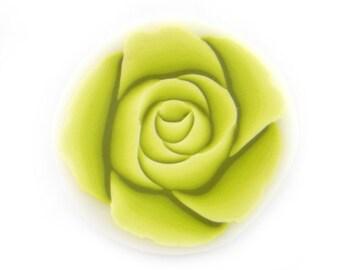 Rose Cane Polymer Clay Cane Millefiori Wassabi Green Rose Cane
