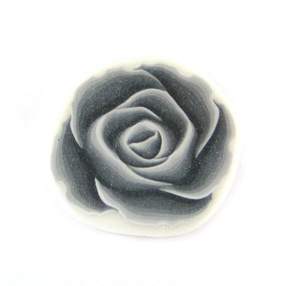 Rose Cane Polymer Clay Cane Millefiori Silver Rose Cane
