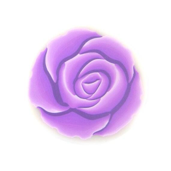 Purple Rose Polymer Clay Cane Millefiori Lavender Rose Cane
