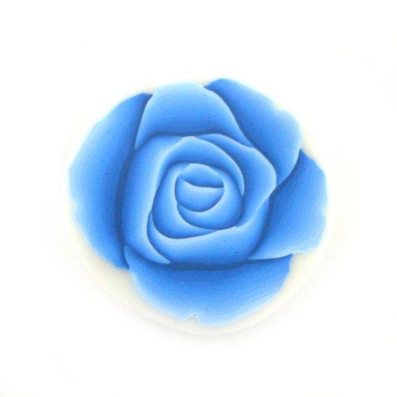 Polymer Clay Cane Millefiori Azure Blue Rose Cane