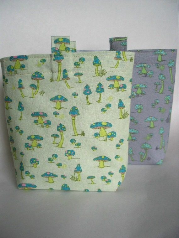 Mushrooms Reusable Sandwich Bags, Set of 2