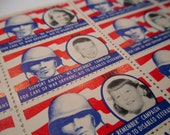 WWII Amvet Seals /  Stickers. War Orphans Fund. 1940s. Lithographed in Chicago.
