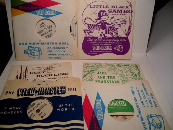 Three Claymation ViewMaster Reels. PLUS Booklets. Ugly Duckling, Sambo & Beanstalk. Florence Thomas.
