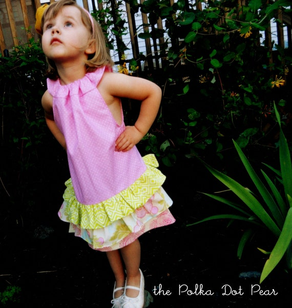 SALE --- Ice Cream Parlor dress- A lovely ruffle dress Size 3t/4t- ready to ship