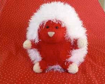 "Plush Red Hedgehog ""Candie Hart"""
