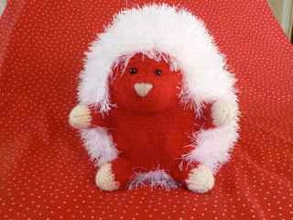 "Plush Red Hedgehog ""Candie Hart"""