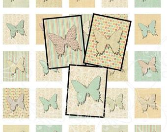 Spring BUTTERFLIES digital collage sheet scrabble tiles