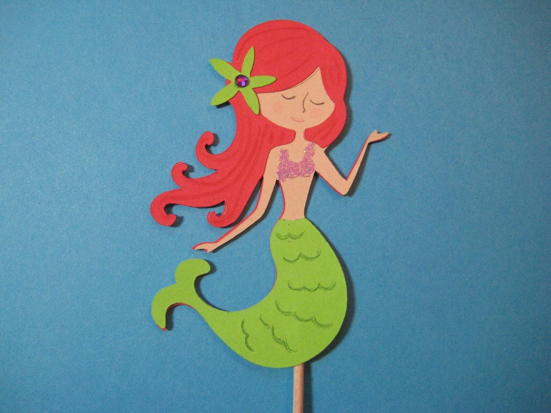 Little Mermaid Cupcake Toppers. The Little Mermaid Cupcake ...