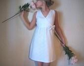 Custom White Lace Dress - Medium
