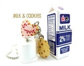 Milk & Cookies Necklace graet gifts for girls birthday party favors