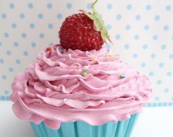 FAKE CUPCAKE  for cupcake wedding cake stand ,cupcake stand ,wedding cupcake stand for wedding decoration bridal shower favor pink icing