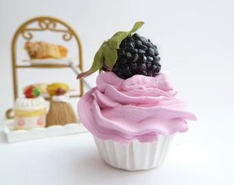 kawaii cupcake FAKE CUPCAKE - ornament cupcake ,magnet cupcake ,cell phone charm ,christmas ornament cupcake , pink Icing mini size