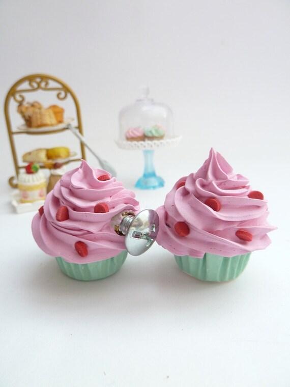 Drawer Knobs Fake Cupcake Set Of 2 Cabinet Pull Drawer