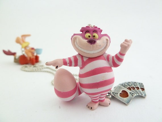 Alice In Wonderland The Cheshire Cat Necklace great for theme party