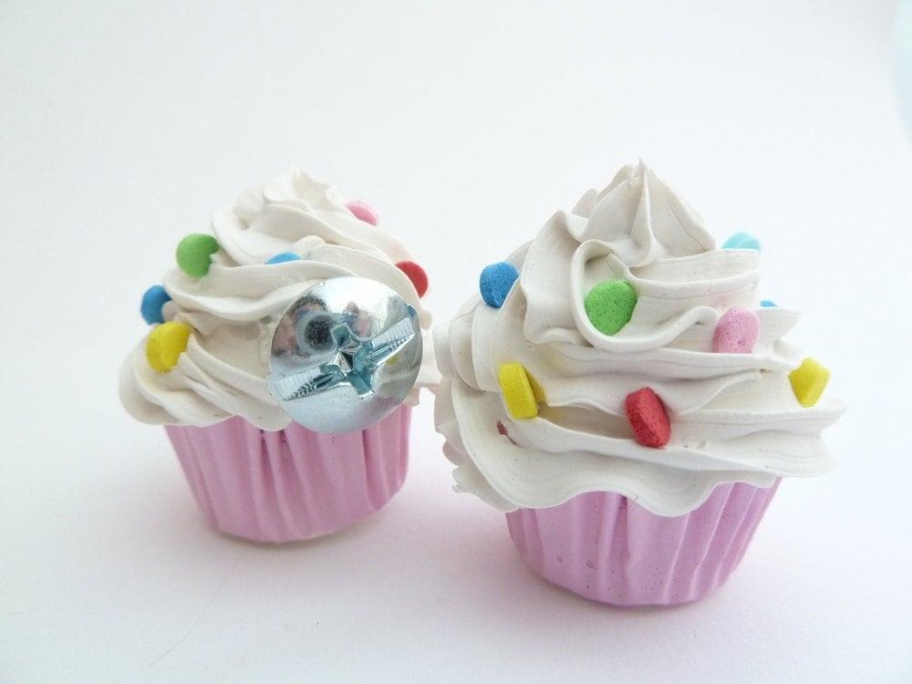 Door Knobs Fake Cupcakes Set Of 2 Handle Pulls Kitchen