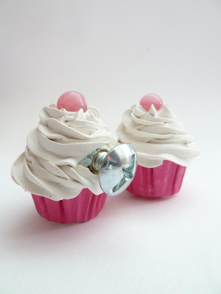 Door Knobs Pulls Set Of 2 Mini Fake Cupcakes Handle