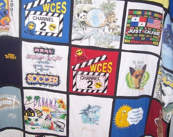 T-Shirt Quilt, memory quilt made to order