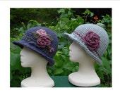 Crochet Pattern PDF - 'Brimmed Cloche' Hat - PA-104