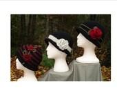 Crochet Pattern PDF - 'Rolled Brim Cloche' Hats -  PA-102
