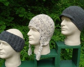 Crochet Pattern PDF - 'Snow Sports' Caps for Men - PM-101