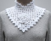 Crochet Pattern PDF -  Flower Square Collar - PA-124e