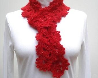 Crochet Pattern PDF - Queen Ann's Lace Scarf - PA-124b