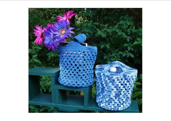 Crochet Small Tote Bag Pattern : Crochet Pattern PDF Small Tote Bags PA-127 by stellardreams