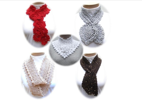 Crochet Pattern PDF - Sequin Neckwear eBook - PA-124
