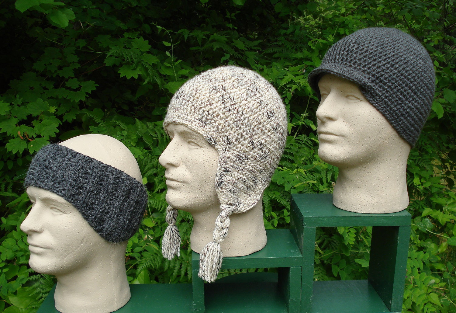 Crochet Pattern PDF Snow Sports Caps for Men