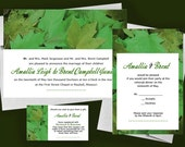 Green Forest - a Printable Wedding Invitation Suite