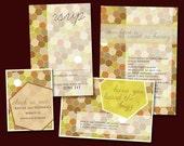 Sweet as Honey, printable Wedding Suite