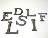 Vintage Metal Letters, Your Choice of One