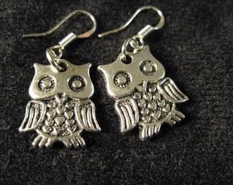 Funky Adorable Little Owl Earrings