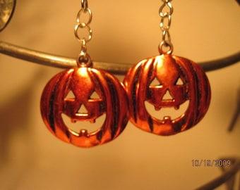 FREE SHIPPING  Pumpkin Earrings