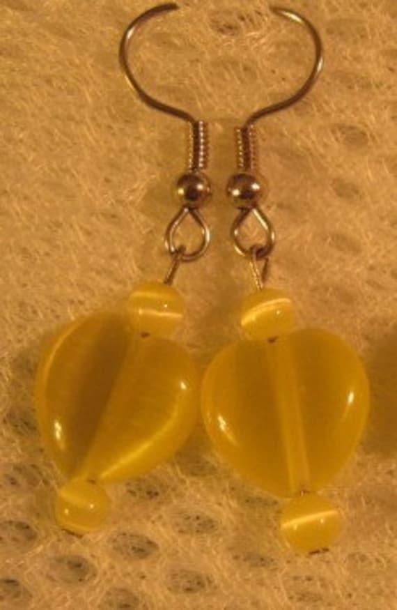 Catseye Heart Earrings