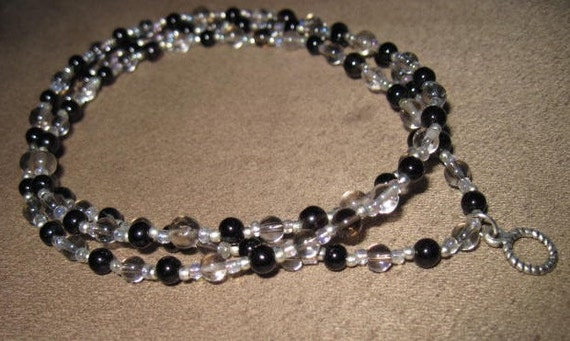 5 Styles Smokey topaz Apetit Pearl Amazonite lanyard or eyeglass holders to choose from