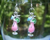 Pink Cocktail Earrings
