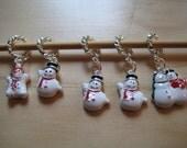 Snowmen Stitch Markers