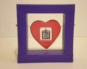 SALE Baby Photo Locket Heart Art Shadowbox