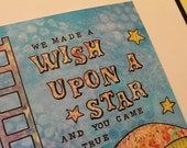 We Made A Wish Upon  A Star 8x8 high quality print of original mixed media art