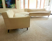 RESERVED Mid-century 1950s or 60s Sectional Sofa with Slipcover
