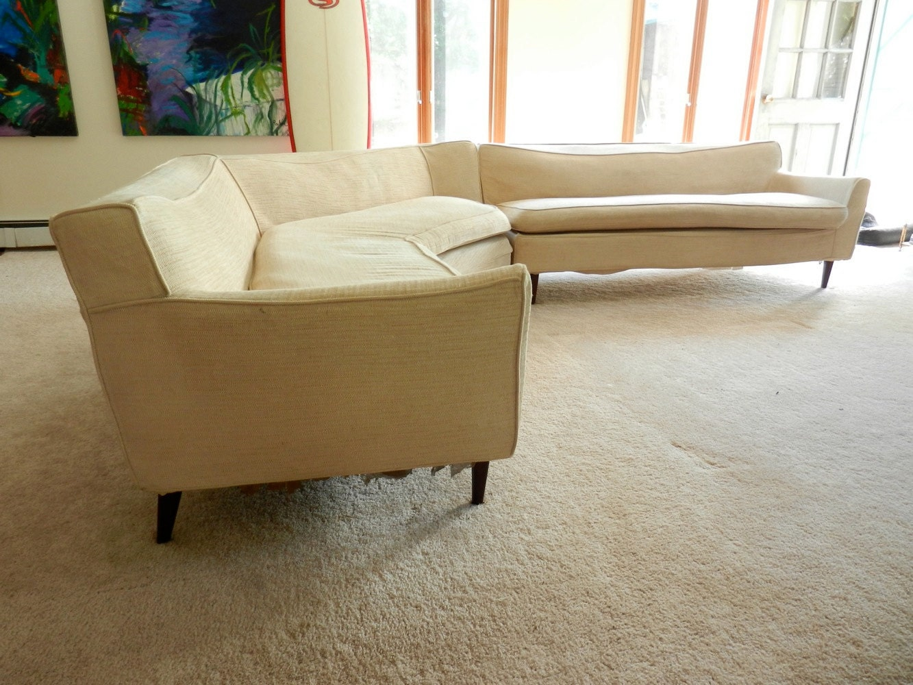 60s Sectional Sofa Reserved Mid Century 1950s Or 60s Sectional Sofa By