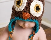 Baby Owl Hat with Earflaps (Baby & Child)